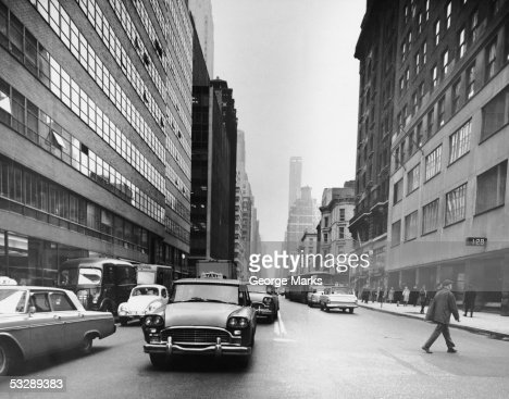 Busy New York City street : Stock Photo