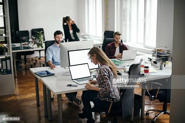 Beschäftigt Büro