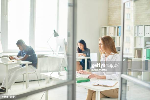 Busy Open Plan Office at Work
