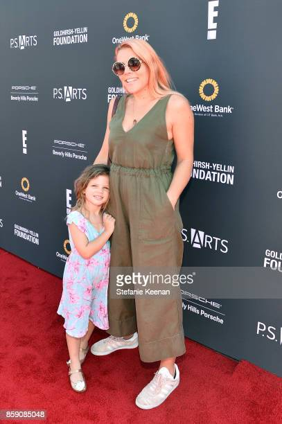 Busy Philipps and daughter at PS ARTS' Express Yourself 2017 at Barker Hangar on October 8 2017 in Santa Monica California