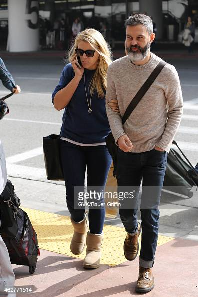 Busy Philipps and Marc Silverstein seen at LAX on February 04 2015 in Los Angeles California