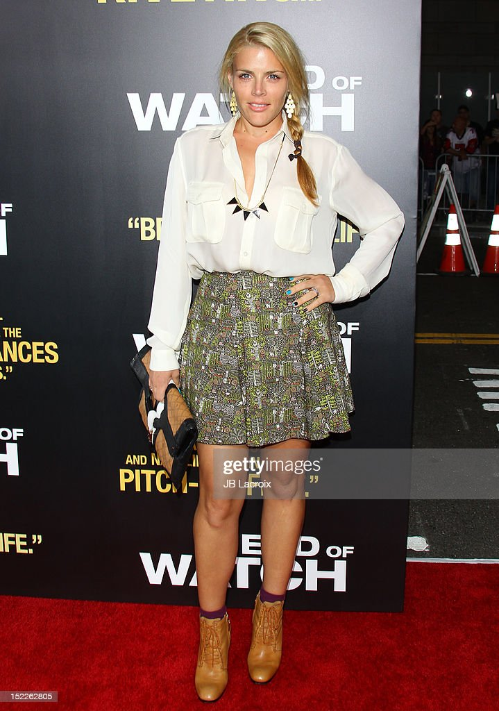 <a gi-track='captionPersonalityLinkClicked' href=/galleries/search?phrase=Busy+Philipps&family=editorial&specificpeople=216133 ng-click='$event.stopPropagation()'>Busy Philipps</a> attends the 'End Of Watch' Los Angeles premiere at Regal Cinemas L.A. Live on September 17, 2012 in Los Angeles, California.