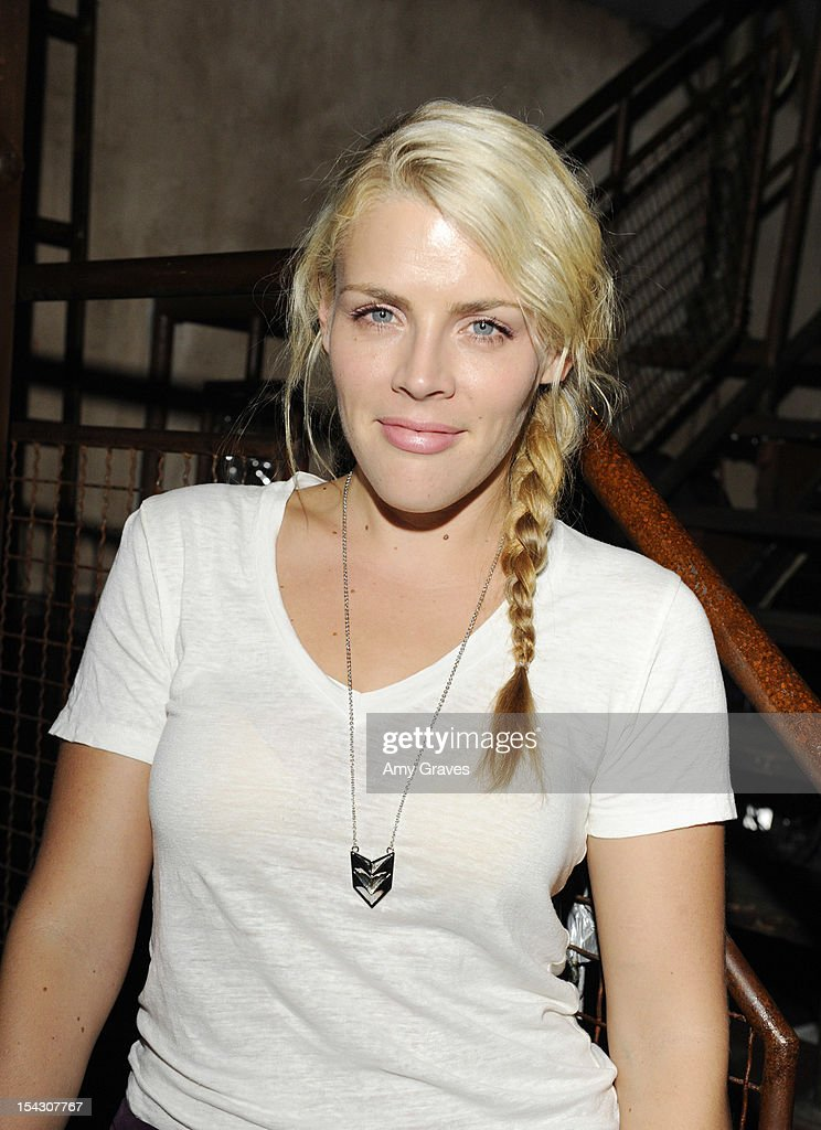<a gi-track='captionPersonalityLinkClicked' href=/galleries/search?phrase=Busy+Philipps&family=editorial&specificpeople=216133 ng-click='$event.stopPropagation()'>Busy Philipps</a> attends the Harlyn Launch Party with special acoustic performance by Jenny Lewis at Harvard And Stone on October 17, 2012 in Hollywood, California.