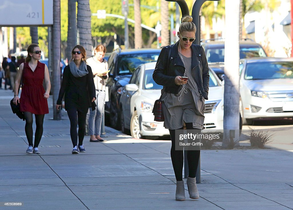Busy Philipps is seen shopping in Beverly Hills on January 13, 2014 in Los Angeles, California.