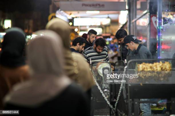 Busy scenes during a street festival in the southwestern suburb of Lakemba on May 27 2017 in Sydney Australia Muslims around the world mark the...