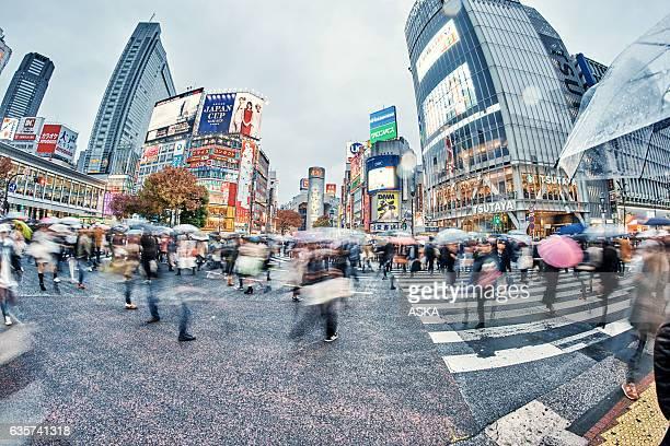 Busy Shibuya crossing in Tokyo,Œjapan