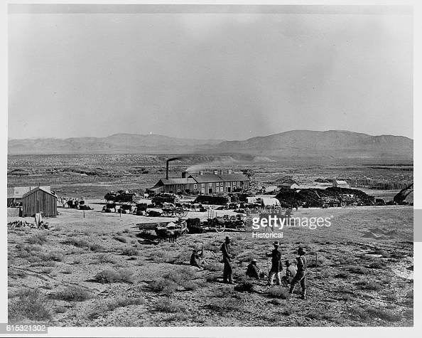 A busy smelter Oreana Nevada ca 1867 | Location Oreana Nevada USA