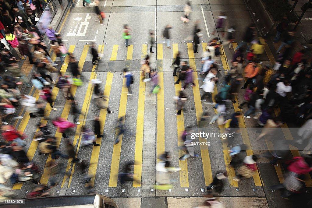 Busy Street Hong Kong China