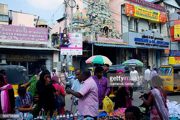 A busy street in George Town area in Chennai Life in Chennai gets back to normalcy after the devastating floods in December 2015 George Town area...