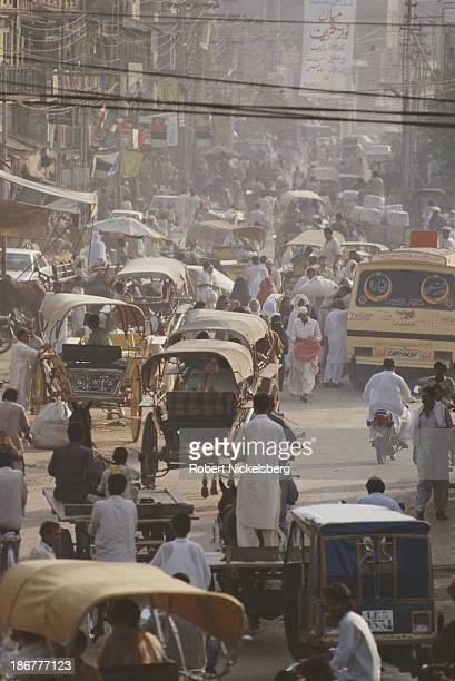 A busy street in Pakistan circa 1990
