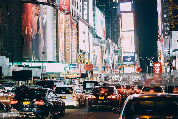 Busy traffic at Times Square, New York City, USA