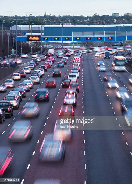 Busy urban motorway
