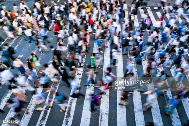 paso de cebra ocupado en Japón
