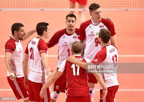Buszek Rafal Konarski Dawid Kubiak Michal Zatorski Pawel Fabian Drzyzga Lemanski Bartlomiej during the FIVB Volleyball World League 2017 match...
