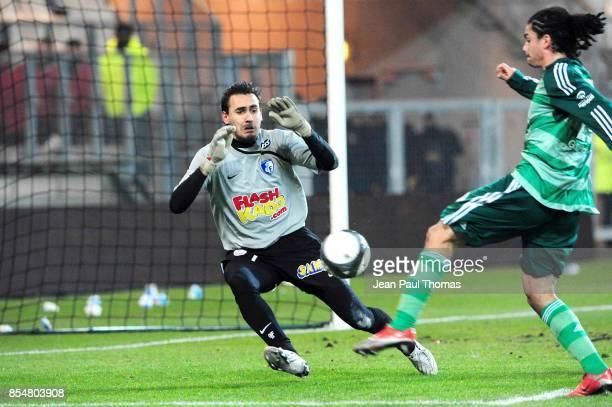 But Emmanuel RIVIERE / VIVIANI Grenoble / Saint Etienne 20e journee Ligue 1 Stade des Alpes