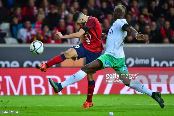 But Yassine BENZIA / Florentin POGBA Lille / Saint Etienne 16eme journee de Ligue 1 Photo Dave Winter / Icon Sport