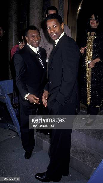 Butch Lewis and Denzel Washington attend 35th Anniversary Gala for the American Dance Theater on December 8 1993 at the City Center in New York City