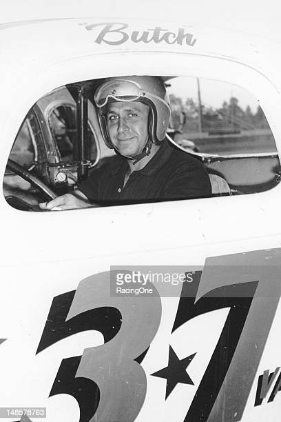 Butch Torrie of Hampton VA with one of his NASCAR Modifieds at Langley Field Speedway Torrie raced during the 1950s and 1960s and won races and track...