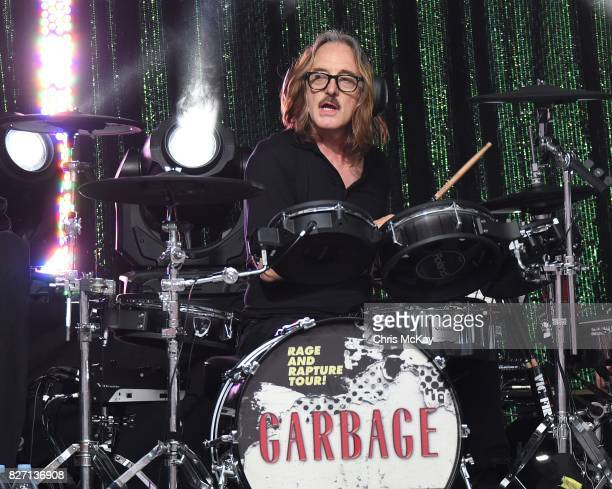 Butch Vig of Garbage performs at Chastain Park Amphitheater on August 6 2017 in Atlanta Georgia