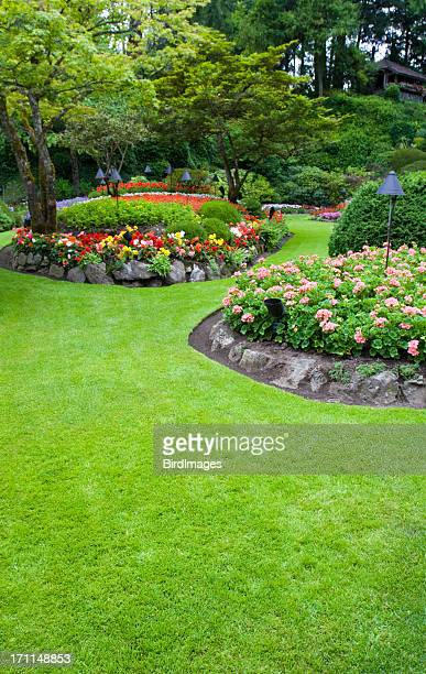Butchart Colourful Flower Beds