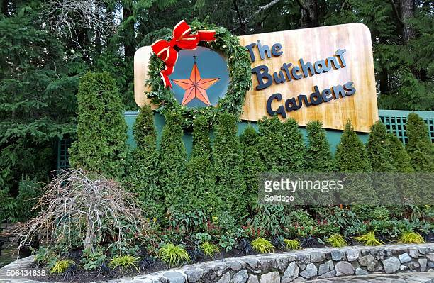 Butchart Gardens Signage At Christmas