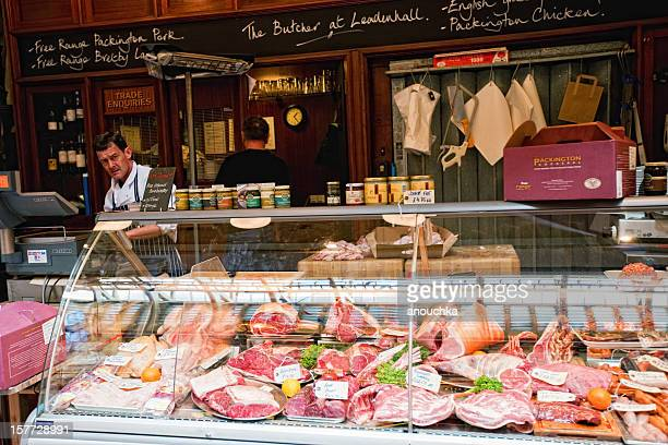 Butcher Shop at Leadenhall Market, London, UK
