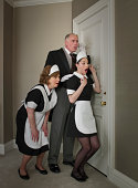 Butler and maids spying on tenants