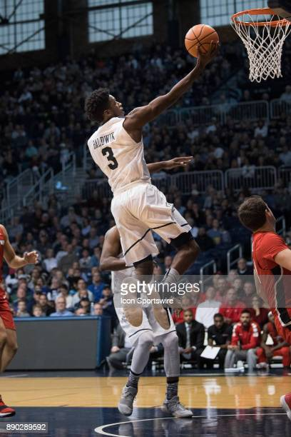 Butler Bulldogs guard KamarBaldwin scores on a fast break layup during the men's college basketball game between the Butler Bulldogs and Youngstown...