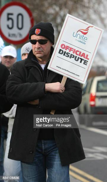 Butler Mahmoud Indja joins picketing staff outside the British Embassy in the upmarket Ballsbridge area of Dublin Staff at the British Embassy there...