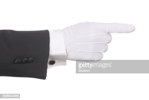 Butler Pointing : Stock Photo