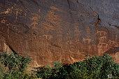Butler Wash Petroglyph Panel - Utah, USA