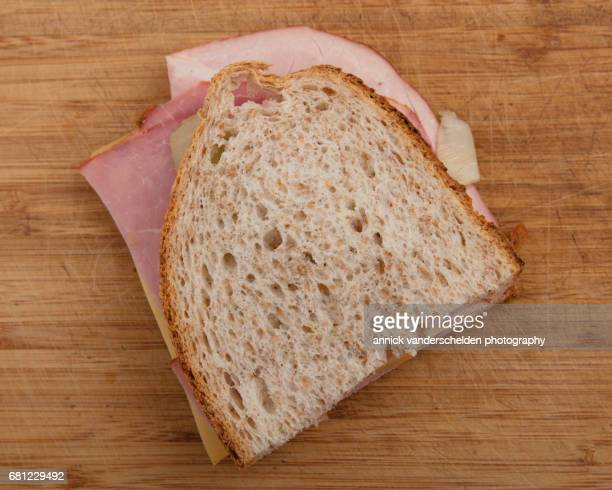 Butterbrot with boiled ham and cheese.