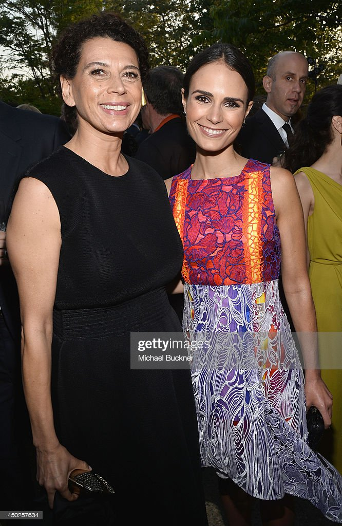 Butterfly Ball Co-Chair Donna Langley (L) and actress Jordana Brewster inside the 13th Annual Chrysalis Butterfly Ball sponsored by Audi, Kayne Anderson and Stella Artois in Los Angeles, California on June 7th, 2014.