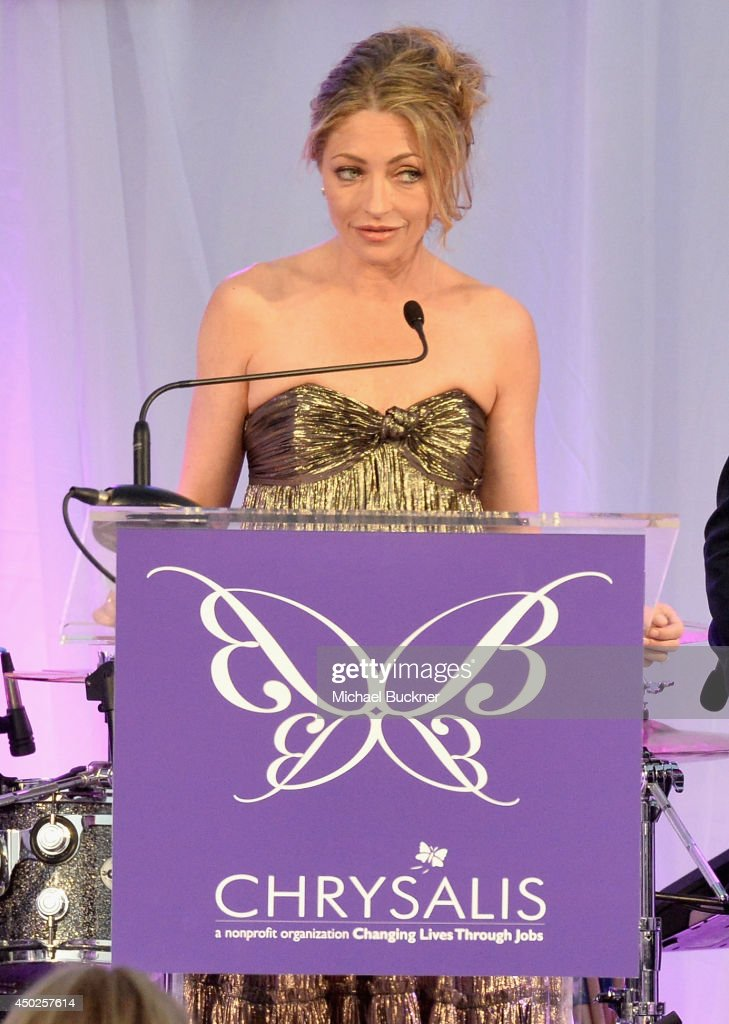 Butterfly Ball Co-Chair Rebecca Gayheart Dane speaks onstage during the 13th Annual Chrysalis Butterfly Ball sponsored by Audi, Kayne Anderson and Stella Artois in Los Angeles, California on June 7th, 2014.
