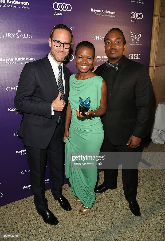 Butterfly Ball Co-Chair Richard Weitz, Leela Coffey and John Dillon Award Recipient Darius Coffey inside the 13th Annual Chrysalis Butterfly Ball sponsored by Audi, Kayne Anderson and Stella Artois in Los Angeles, California on June 7th, 2014.