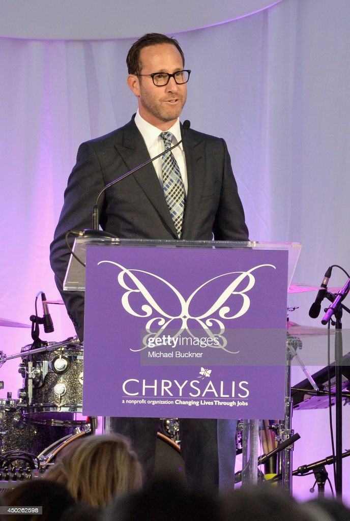 Butterfly Ball Co-Chair Richard Weitz speaks onstage during the 13th Annual Chrysalis Butterfly Ball sponsored by Audi, Kayne Anderson and Stella Artois in Los Angeles, California on June 7th, 2014.