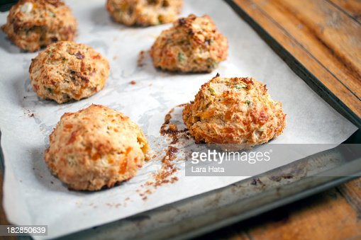 'Buttermilk biscuits with bacon, cheddar and green onions'