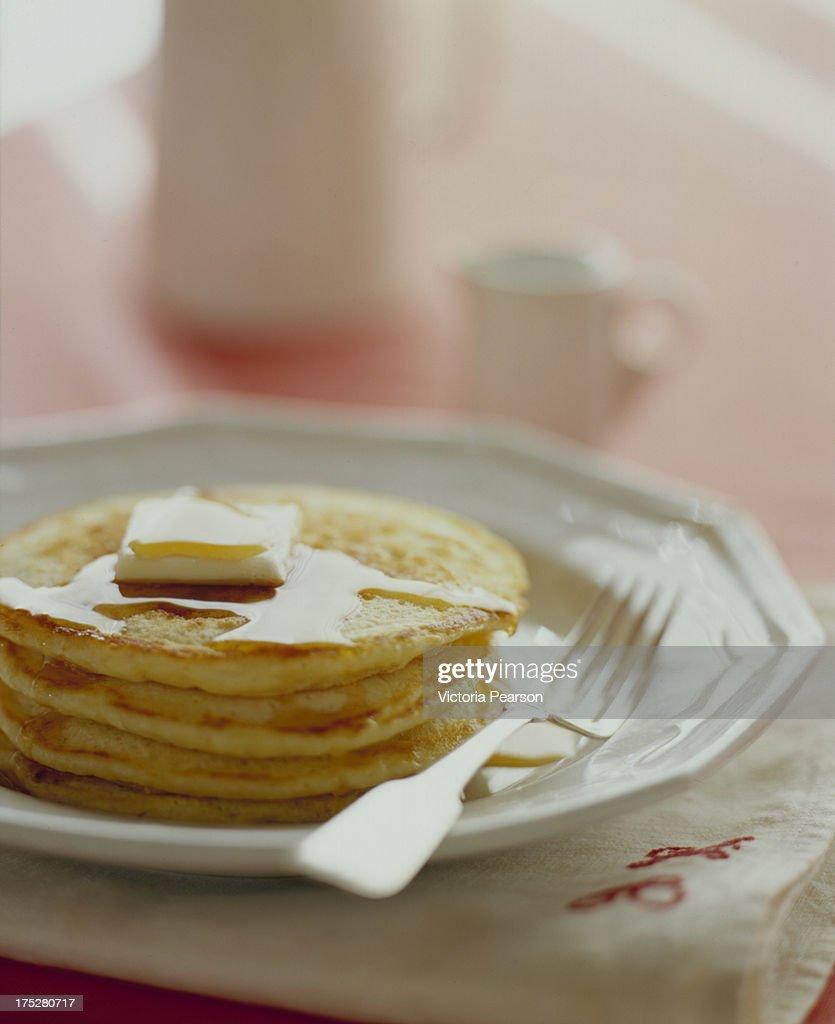 Buttermilk Pancakes : Stock Photo