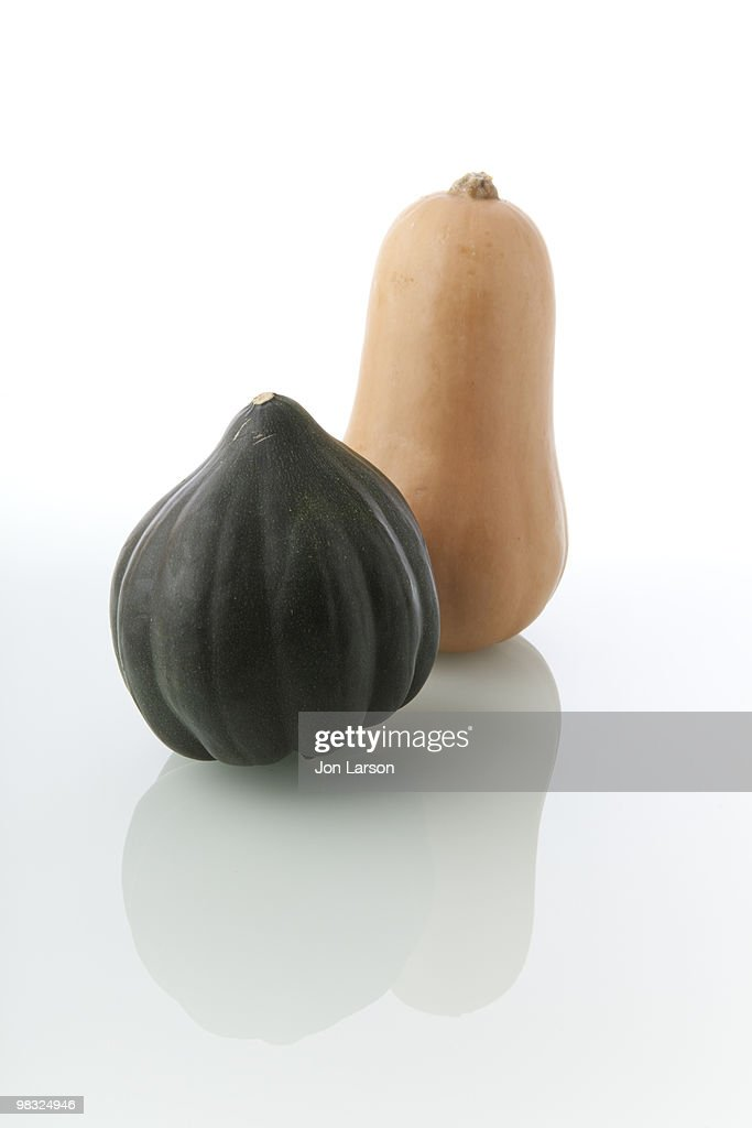 Butternut and Acorn Squash : Stock Photo