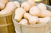 Butternut squash in a basket