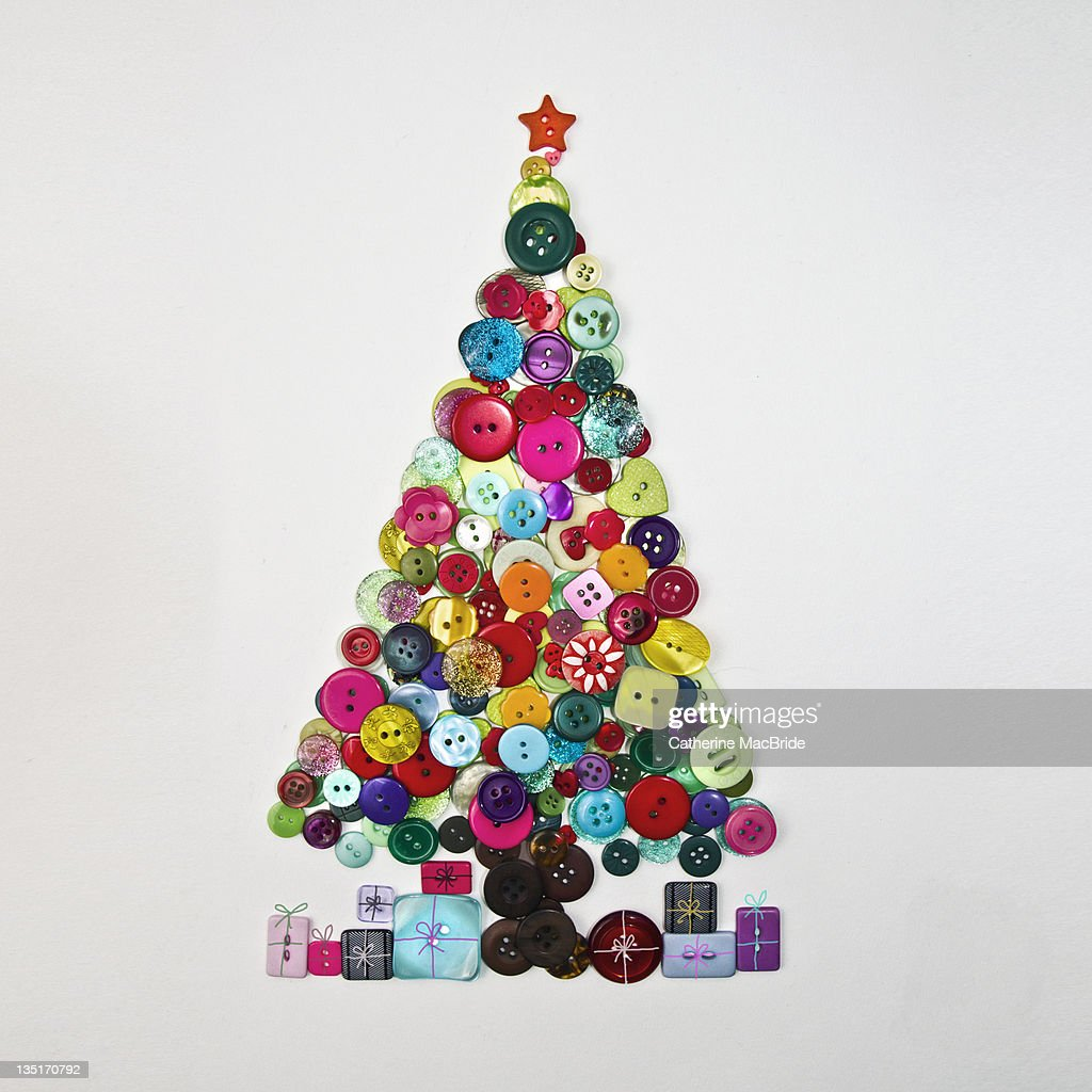Button christmas tree : Stock Photo