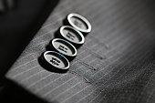 button suit stripe