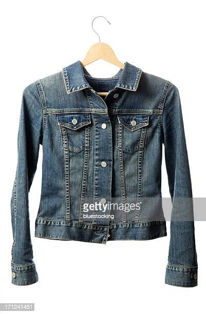 Buttoned denim jacket with hanger