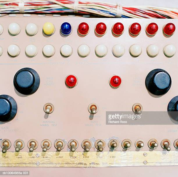 Buttons and switches on control board