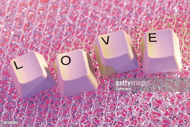 Buttons from keyboard spelling out love
