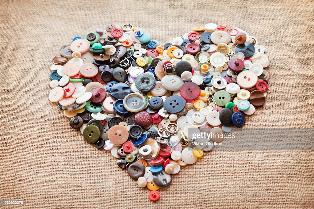 buttons heart. Valentine's Day : Stock Photo