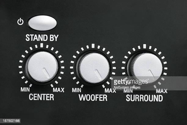 Buttons on surround audio device turned maximum
