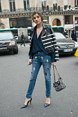 Buyer and social media director Juliana Lazara wears a Chanel bag Alexander Wang shoes Each X Other jacket Acne shirt and Stella McCartney jeans on...