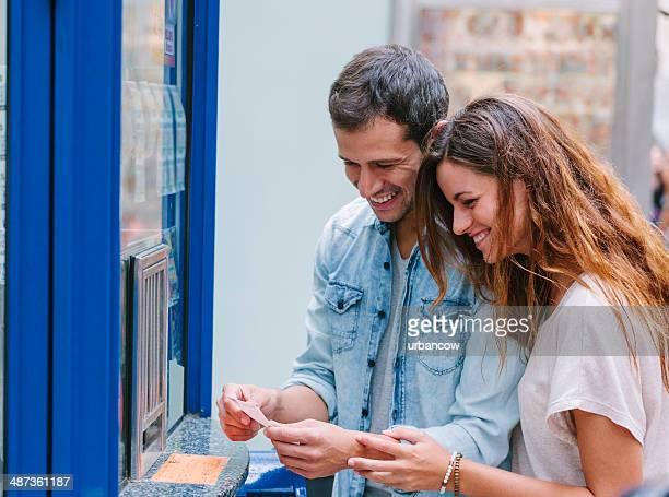 Kauf einer Lotterie-ticket, Las Ramblas