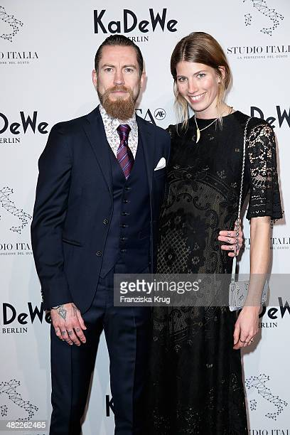 Buying director for mytheresacom Justin O'Shea and fashion editor for Harper's Bazaar Veronika Heilbrunner attend the 'Studio Italia La Perfezione...